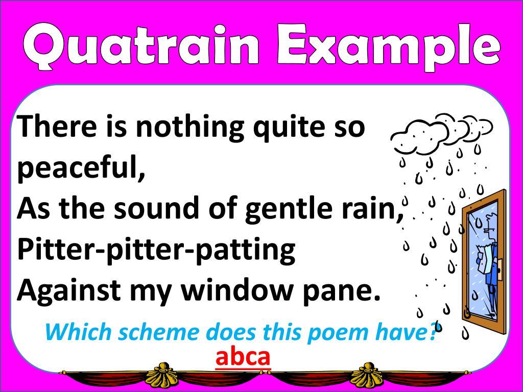 Quatrain Poems For Kids