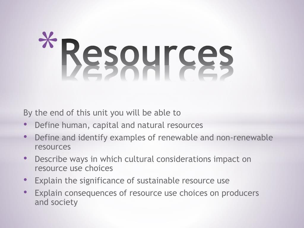 Non Renewable Resources Definition
