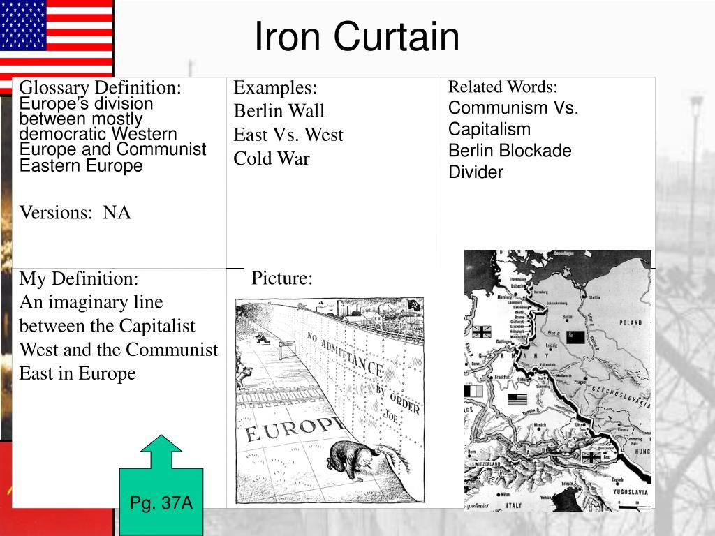 Define The Word Iron Curtain