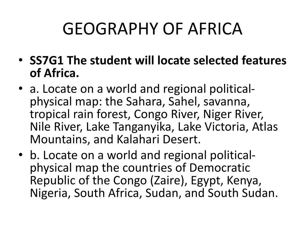 Ppt Geography Of Africa Powerpoint Presentation Free Download Id 2118367