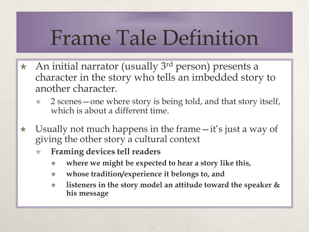 What Is A Frame Story Definition