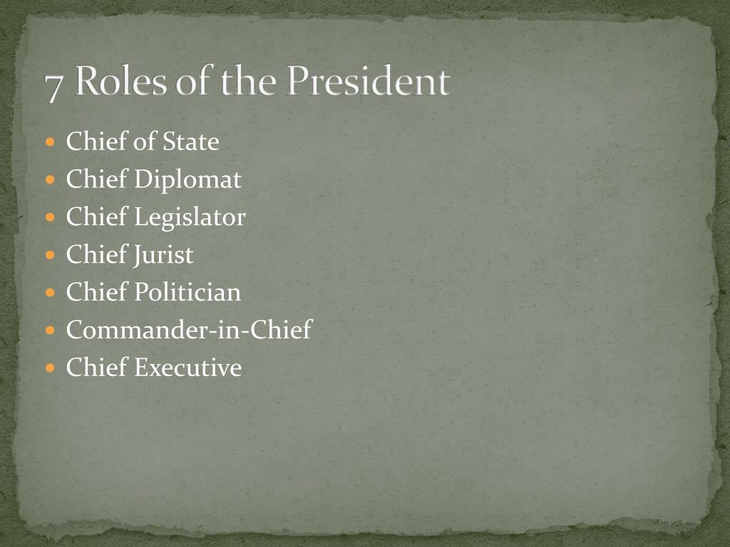 7 Roles Of The President Pictures