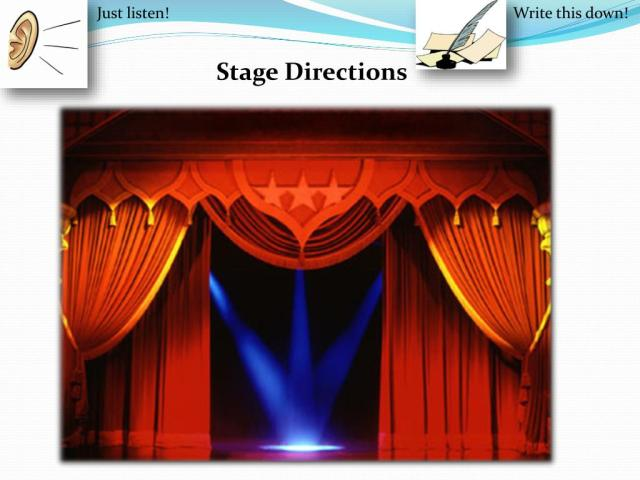PPT - Stage Directions PowerPoint Presentation, free download - ID