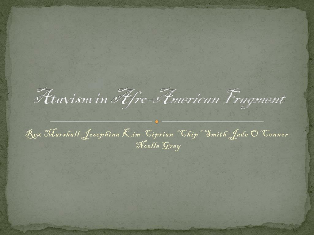 Afro American Fragment Worksheet