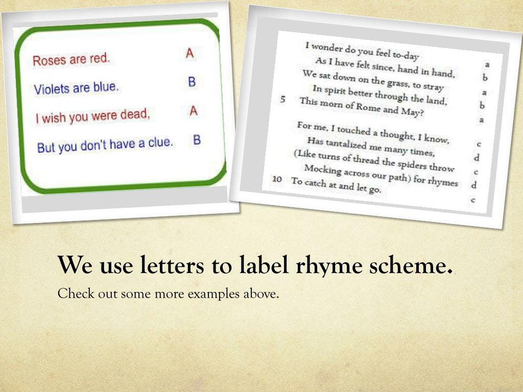 32 How To Label Rhyme Scheme