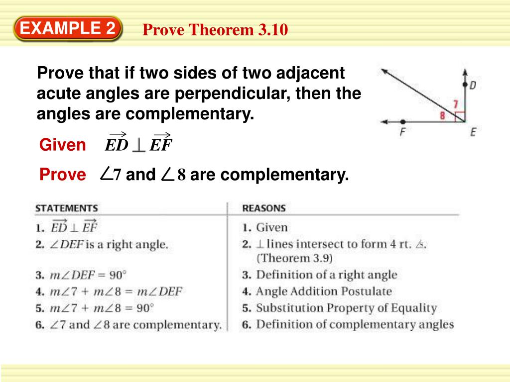 Proof Definition Of Perpendicular Lines