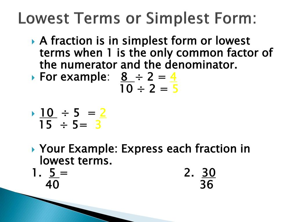 How Simplest Form Lowest Term Can Increase Your Profit