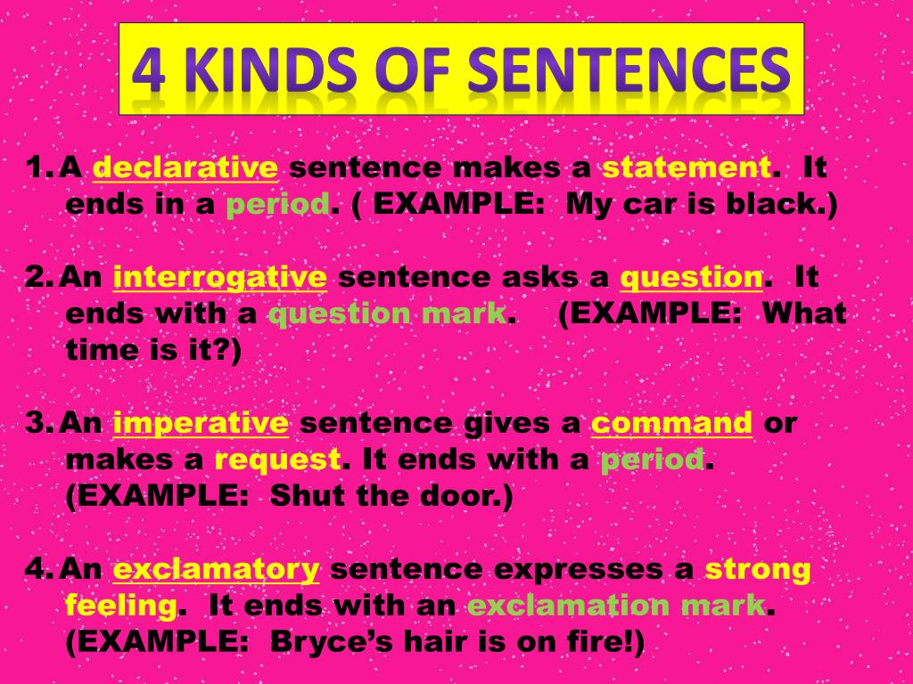 A Sentence That Gives A Command Use Gives In A Sentence