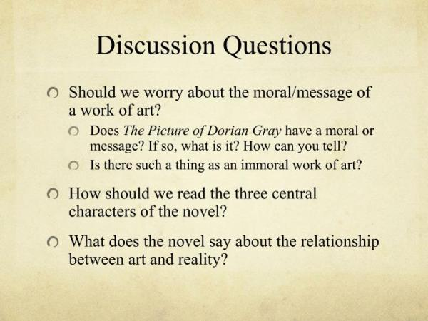 ️ Picture of dorian gray discussion questions. The Picture ...