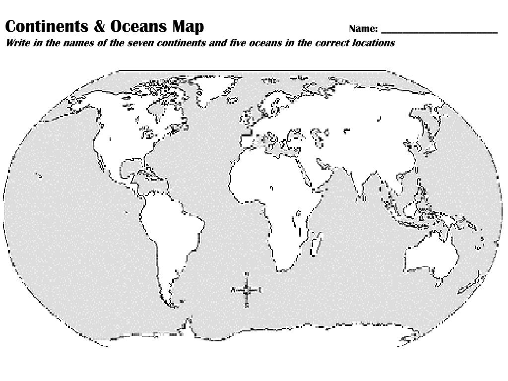 Label Continents And Oceans Worksheet