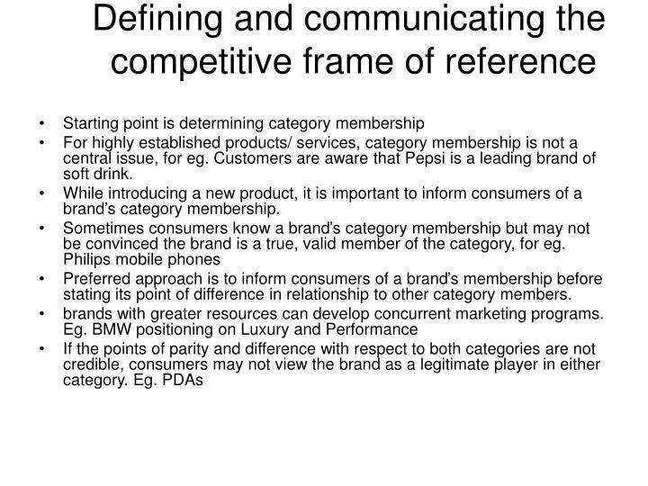 what is competitive frame of reference | Siteframes.co