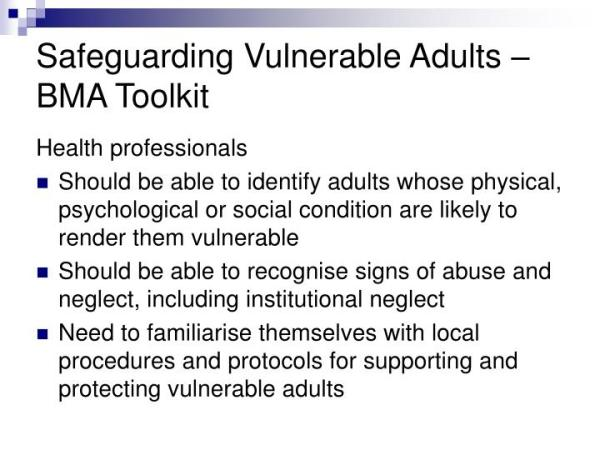 PPT - SAFEGUARDING ADULTS PowerPoint Presentation - ID:2949939