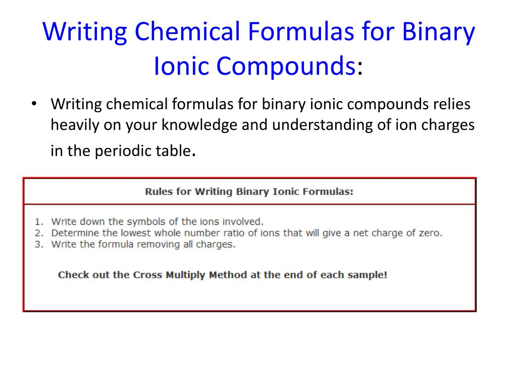Forming And Naming Binary Ionic Compounds Worksheet Answer Key