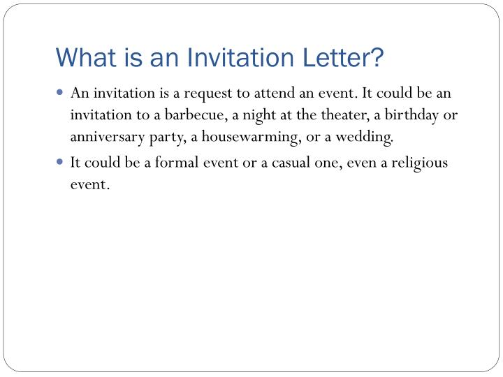 What is an invitation letter invitationjdi ppt invitation letter powerpoint presentation id 2995370 stopboris Image collections