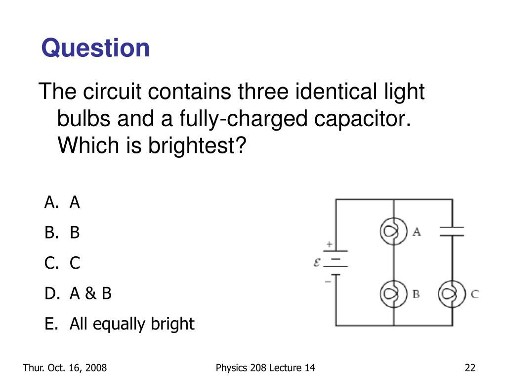 Capacitor Circuit Light Bulb