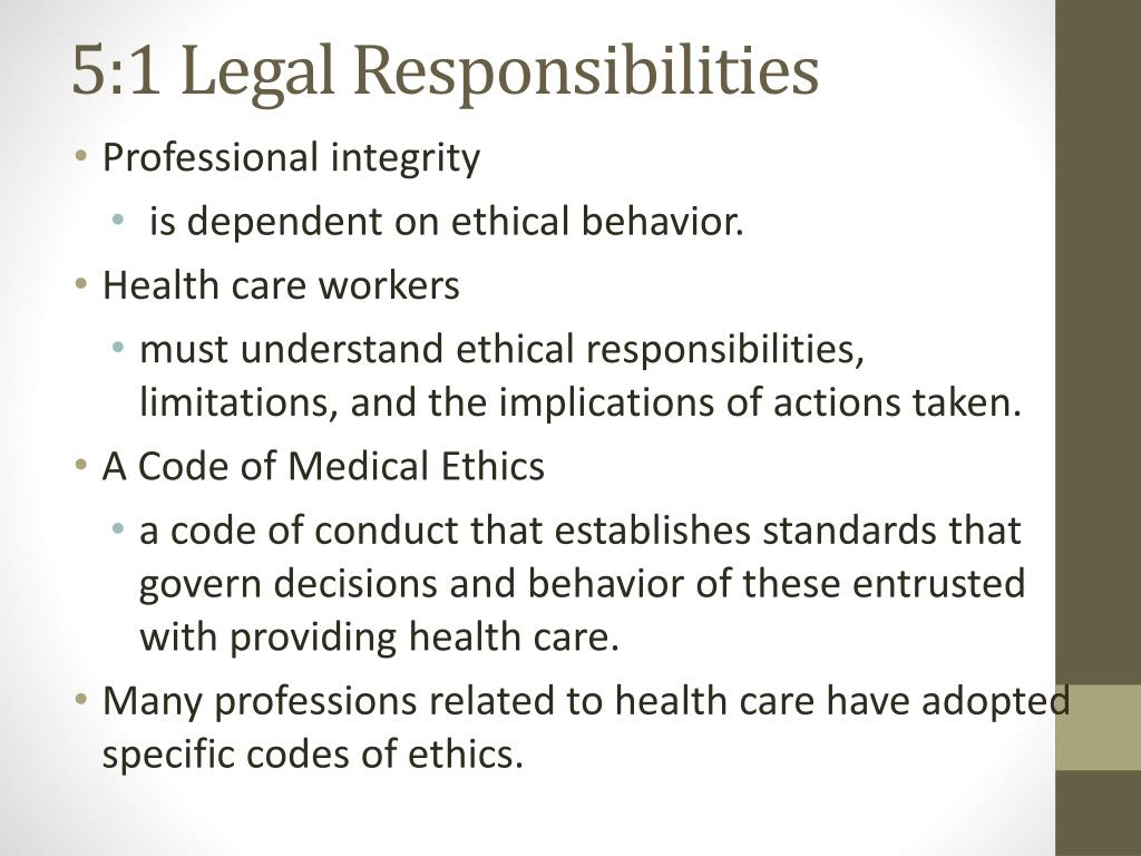 Chapter 5 Legal And Ethical Responsibilities Worksheet
