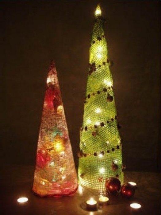 Гениальные идеи сделать новогоднюю ёлку своими руками