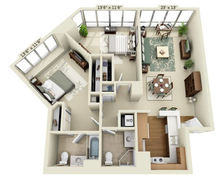 Cheap 2 bedroom apartments in california for Cheap 2 bedroom apartments in san jose