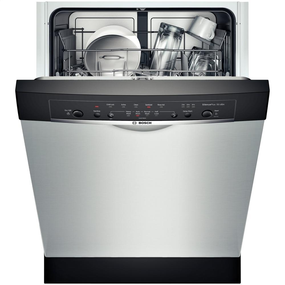 Bosch SHE3AR55UC 24 Inch Ascenta Series Built In Full Console Dishwasher With In Stainless Steel