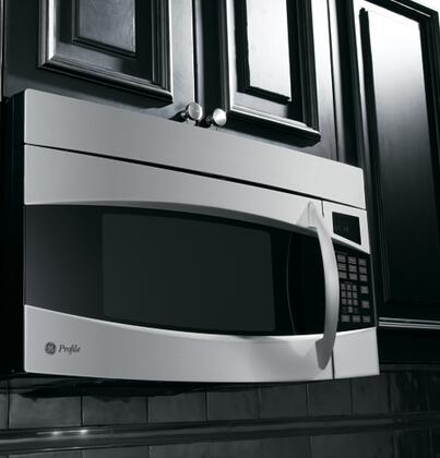 GE PVM1870SMSS 18 Cu Ft Over The Range Microwave Oven With 300 CFM 1100 Cooking Watts In