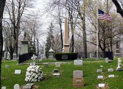 Millard Fillmore's grave in Forest Lawn Cemetery in Buffalo, New York.  Photo by Keven Petersen, via FindaGrave.com