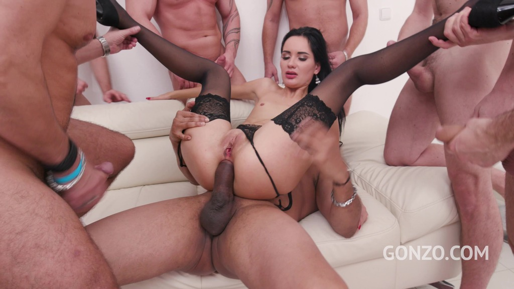 Megan Venturi assfucked by 1, 2, 3, 4 guys and then gangbanged by all 10 of them SZ2346