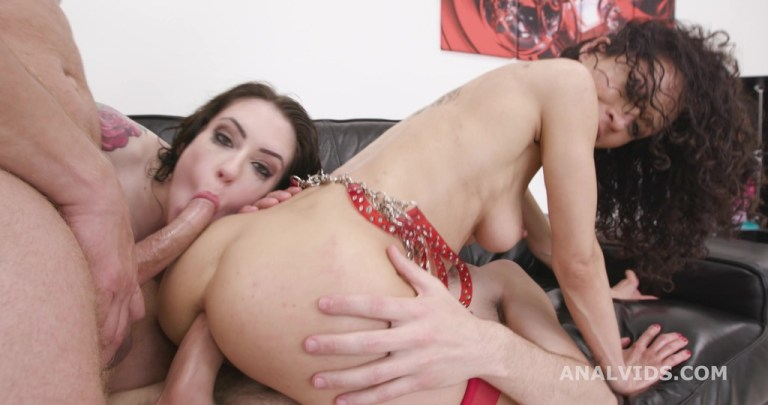 DAP and Roses #1, Stacy Bloom & Anna de Ville, Anal Fisting, DAP, Gapes, ButtRose, Squirt Drink, Creampiee Swallow GIO1852