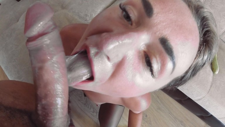 Russian MILF was fucked only in the ass. Anal creampie CAS028