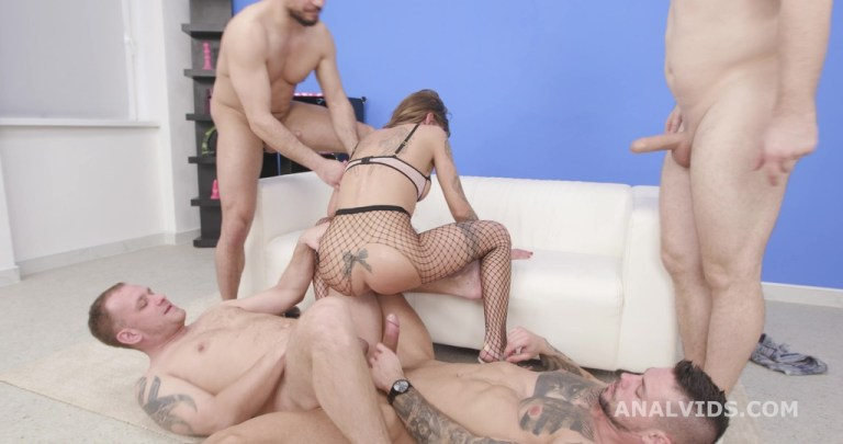 Silvia Dellai is Unbreakable and Drinks Bottomless #1 4on1 Balls Deep Anal, DAP, Gapes, Pee Drink and Swallow GIO1765