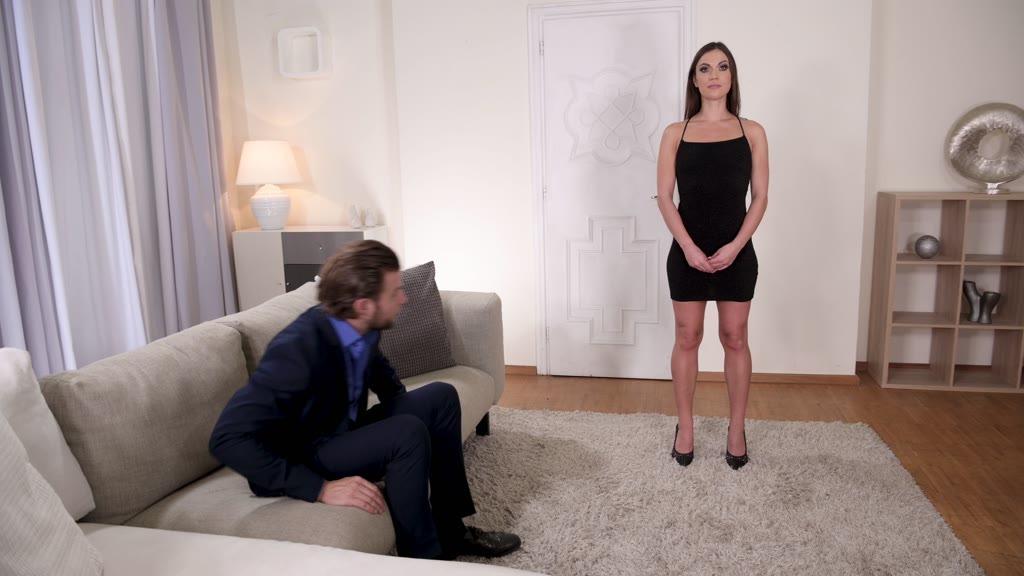 Petite human sex doll Alyssa Reece fulfills his Hardcore BDSM fetish needs GP1074