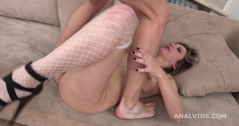 My first DP, Monika Kenig Balls Deep Anal, Gapes and Cum in Mouth GL355