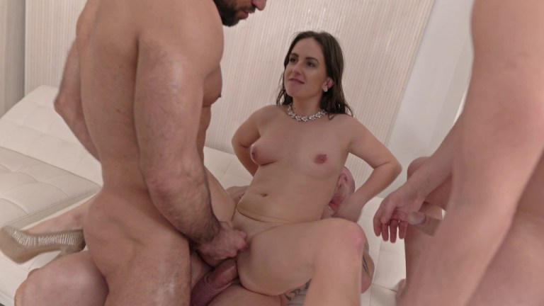 Lenna Ross first time to LP, first time with 4 guys and first time piss (DP, Piss, Anal, 4on1, Facial Cumshot) NF067