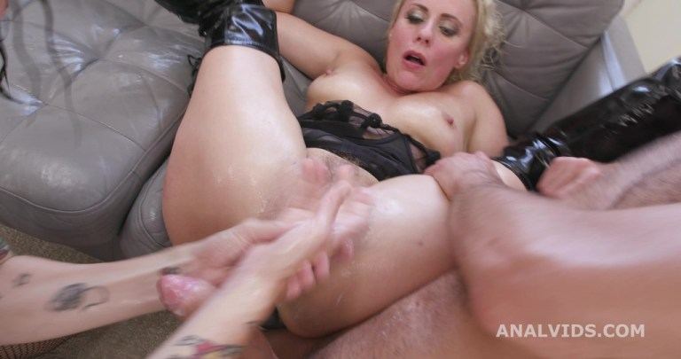 Adeline Lafouine & Brittany Bardot #2, 6on2, DAP, Fisting, Monster ButtRose, Squirt Drink, Cum in Mouth GIO1894