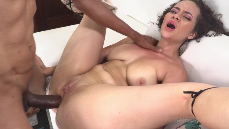 First time anal fucking with BBC for Dana Curly NT