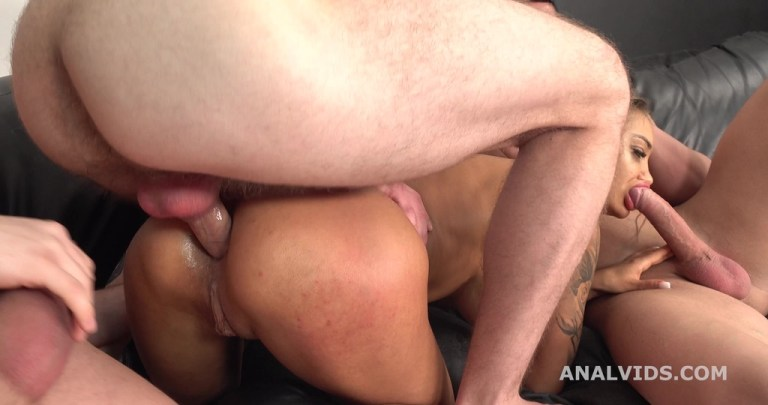 Monika Fox goes Rough and wet 3on1 Balls Deep Anal, DAP, Pee Drink, Buttrose and Swallow GL401