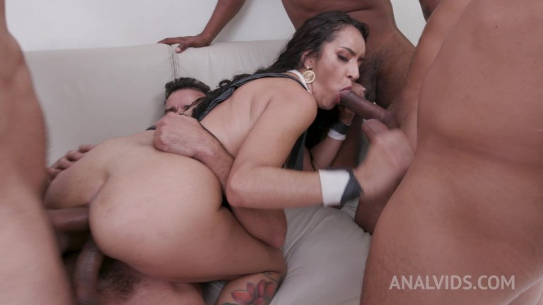 Horny latina Sandy Cortez gets fisted and fucked with DP, DAP and double pussy YE088