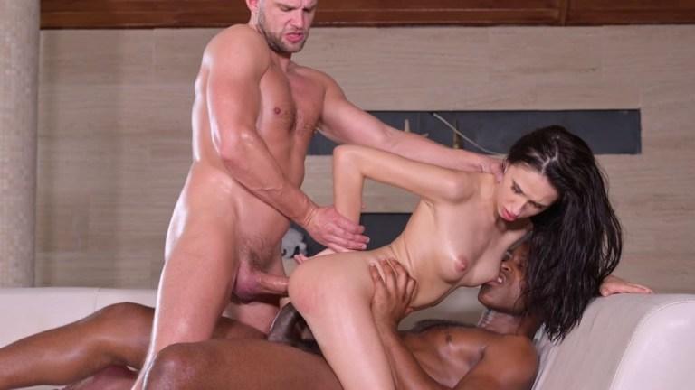 Hardcore BDSM Interracial DP with Submissive Slave Alyssa Bounty GP1928