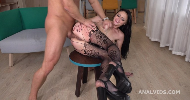 Mr. Anderson Vs Kiara Gold Balls Deep Anal, Gapes and Swallow GL309