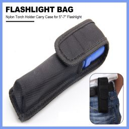 Flashlight Pouch Tactical Molle 1680D Nylon Torch Holder Carry Case for  5