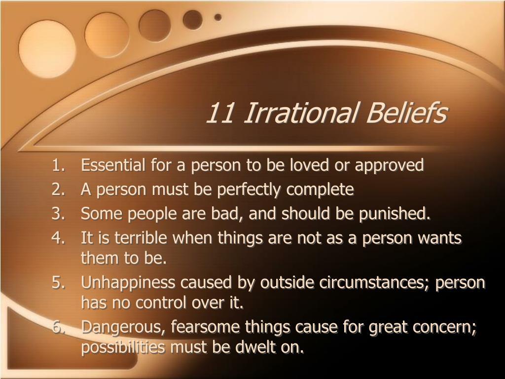 Albert Ellis Rebt Irrational Beliefs