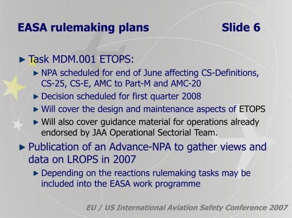 PPT - EU / US International Aviation Safety Conference ...