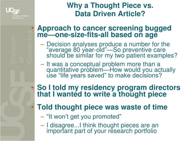 PPT - How to Write a Thought Piece PowerPoint Presentation, free