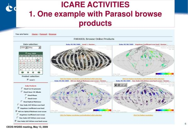 PPT - ICARE Thematic Centre for Cloud, Aerosol, Water and ...
