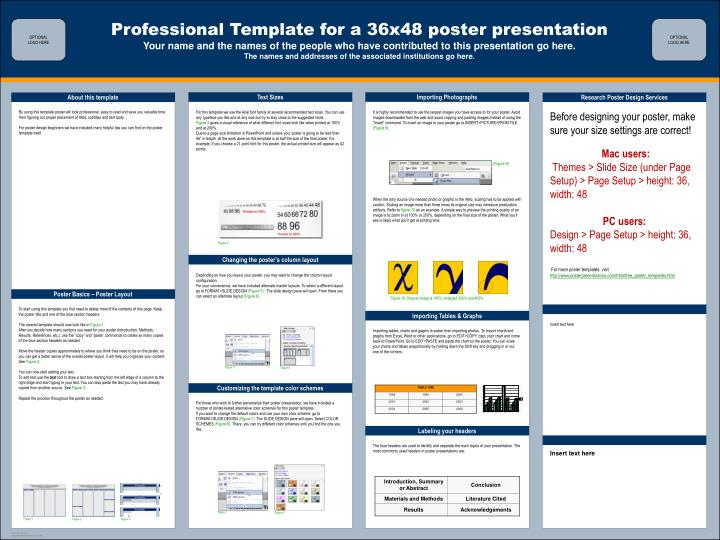 36x48 poster presentation powerpoint