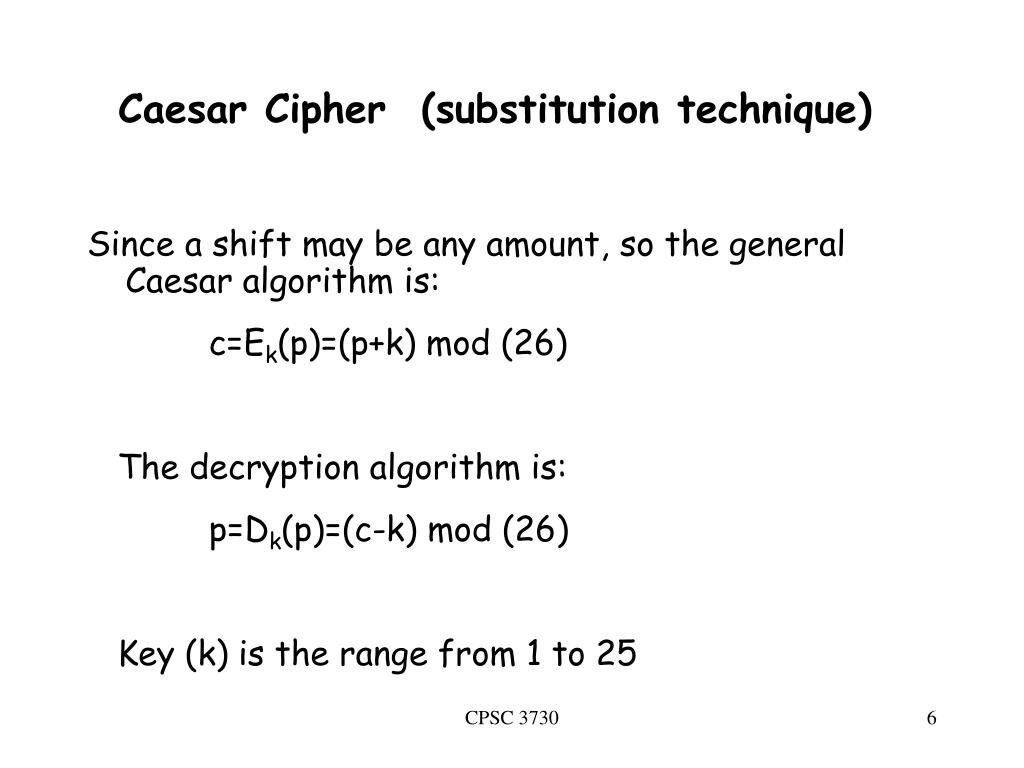 Worksheet 1 The Caesar Cipher Answers