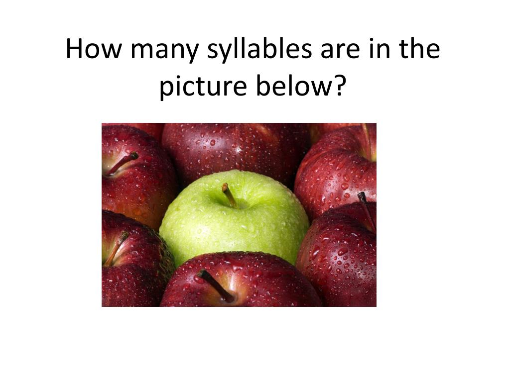 How Many Syllables In Apple