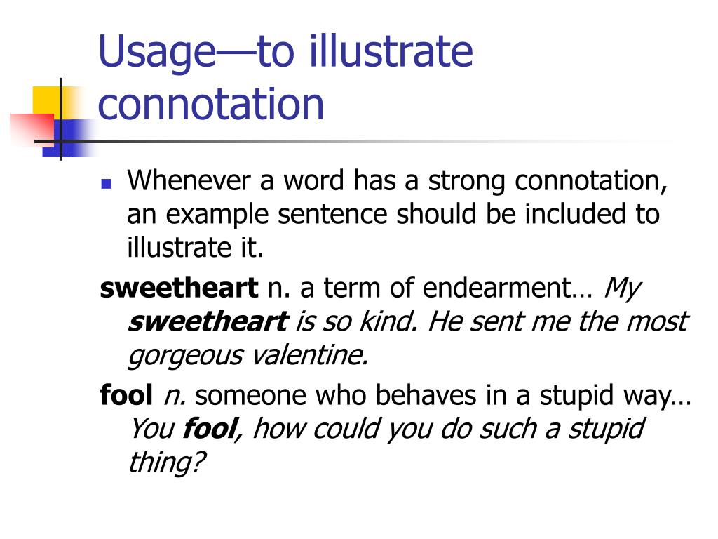 Connotation In A Sentence