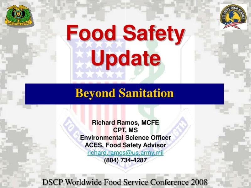 food safety and sanitation powerpoint presentation