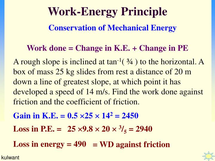 PPT - Work-Energy Principle PowerPoint Presentation, free ...