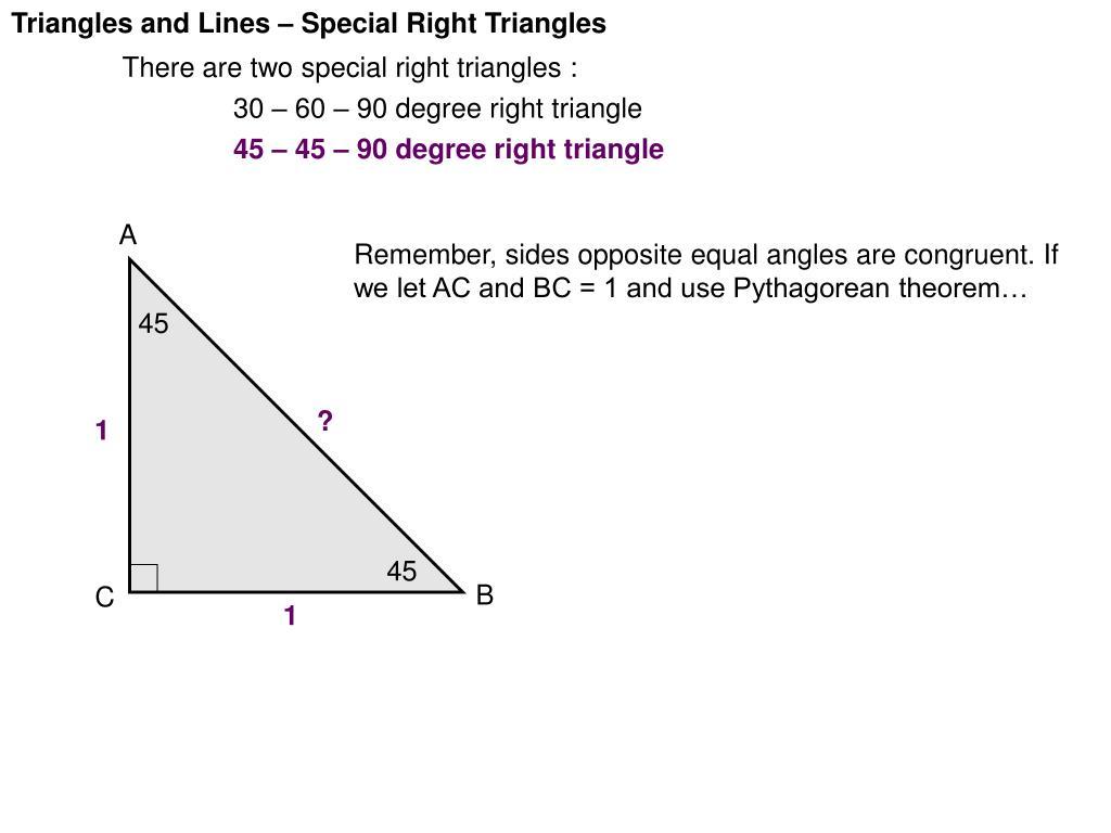 90 60 30 Triangle Rule